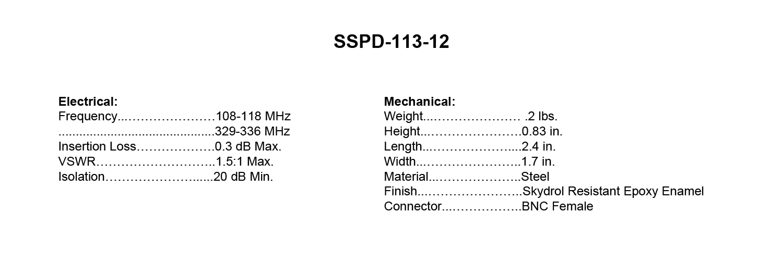 SSPD-113-12_Specs