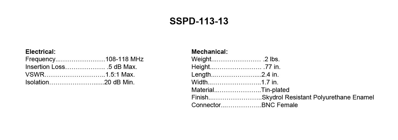 SSPD-113-13_Specs