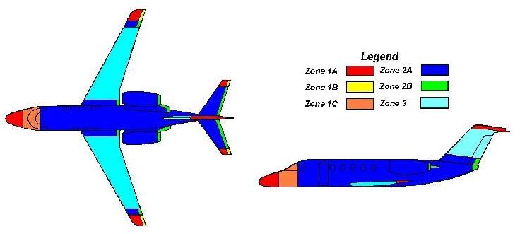 Typical VLJ Lightning Strike Zone image